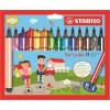 """FILCTOLL készlet, 1,5-2 mm, rugós hegy, STABILO """"Trio Scribbi"""", 14 különböző szín (TST36814)"""