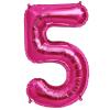 Szám formájú óriás fólia lufi, pink 5