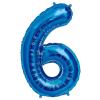 Szám formájú óriás fólia lufi, kék 6