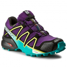 Salomon Cipők SALOMON - Speedcross 4 Gtx W 392405 20 G0 Acai/Deep Peacock Blue/Sulphur Spring