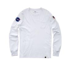Alpha Industries NASA LS - fehér hosszúujjú