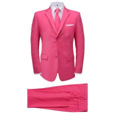 két darabos férfi öltöny nyakkendővel méret 54 rózsaszín