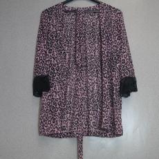 Rózsaszín - Fekete mintás Női Felső - Egy méret
