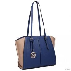 Gant Miss Lulu London LT6614-női Designer Inspire kézi táska denevér stílus hosszú fogantyú bevásárló táska válltáska táska navy
