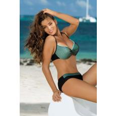 marko Bikini Nadia Nero-Turchesse M-374 fekete-türkizkék