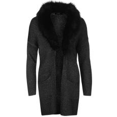 Firetrap Fur Collar női kötött kardigán Ladies