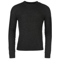FiretrapBlacks Text férfi kötött pulóver