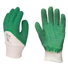 MV mártott zöld krepp latex kesztyű 3803, 3804, 3805  érdes, SZELLŐZŐ kézhát 8-10 méret