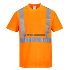Portwest S190 Hi-Vis póló zsebbel (narancs)