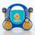Auna Rockpocket, gyerek karaoke rendszer, CD, AUX, 2 x mikrofon, kék