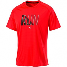 Puma Run Tee SS Red robbanás S