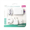 Omega C-Tech Omega 220-250V, EU + USA + UK dugó, 4x USB