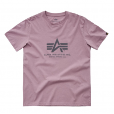 Alpha Industries Basic T - silver pink