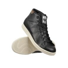 ADIDAS ORIGINALS férfi utcai cipő Stan Smith MID, fekete, műbőr, 41,3
