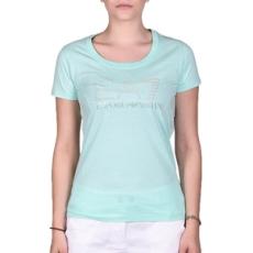 EmporioArmani rövidujjú felső Women's Knit Jersey, női, zöld, pamut, L
