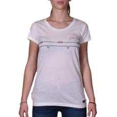 Helly Hansen rövidujjú felső W Graphic T-Shirt, női, fehér, pamut, L