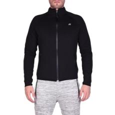 Russel Athletic Végig cipzáros pulóver, Russel Athletic Rassell Track Jacket, férfi, fekete, poliészter, L