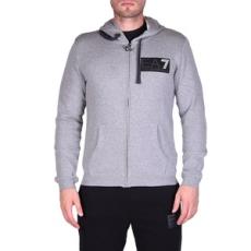 EmporioArmani végig cipzáros pulóver Jersey Sweatshirt, férfi, szürke, pamut, L
