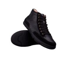 Sealand férfi utcai cipő, fekete, bőr, természetes, 40