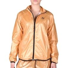 Puma végig cipzáros pulóver Gold Windrunner, női, arany, poliészter, L