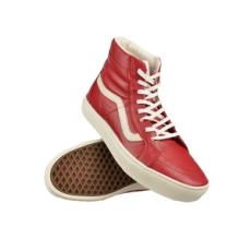 Vans férfi utcai cipő U Sk8-Hi CUP CA, piros, bőr, természetes, 43