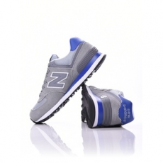 New Balance női utcai cipő WL 574 CPK, szürke, bőr, velúr, 37,5