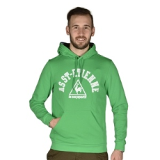 Le Coq Sportif belebújós pulóver Huiton PO Hood M, férfi, zöld, pamut, M