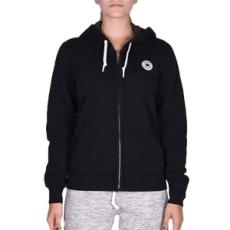 Converse végig cipzáros pulóver Core Full ZIP Hoodie, női, fekete, pamut, L