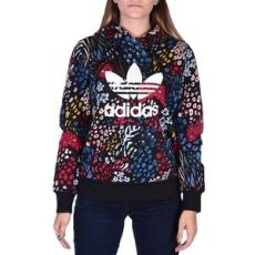 Adidas végig cipzáros pulóver TRF Logo Hoodie, női, fekete, poliészter, S