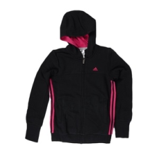 Adidas PERFORMANCE végig cipzáros pulóver YG ESS S FZ HD, lány, fekete, pamut, 140