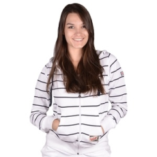 Russel Athletic Végig cipzáros pulóver, Russel Athletic Port, női, fehér, pamut, L