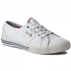 Pepe Jeans Teniszcipő PEPE JEANS - Baker Wash PGS30262 White 800