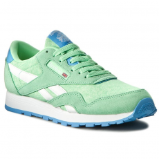 Reebok Cipők Reebok - Cl Nylon Washed BD3858 Green/Blue/White