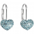 Evolution Group Aqua fülbevaló Swarovski kristályokkal díszített 31125,3 (925/1000, 1,4 g)