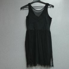 Fekete fűzős ruha - Egy méret
