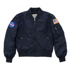 Alpha Industries MA-1 TT NASA Kids - replica blue