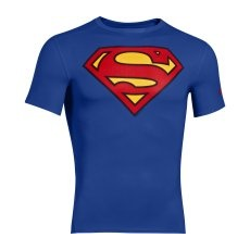Under Armour Alter Ego Compression SS SUPERMAN Férfi póló, Kék, S