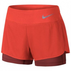 Nike 2 in 1 Flex Rival női nadrág, Orange/Cayenne, M (831552-852-M)