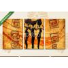 Képáruház.hu Premium Kollekció: african motive ethnic retro vintage(125x60 cm, L02 Többrészes Vászonkép)