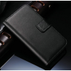 iPhone 4 4S műbőr flip pénztárca tok fekete színben ajándékokkal