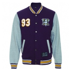 Majestic Anaheim Ducks Kabát Majestic Fleece Letterman Jacket - L