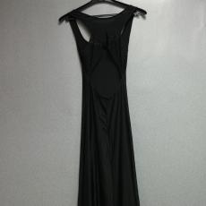 Fekete,kivágott maxi ruha  - Egy méret