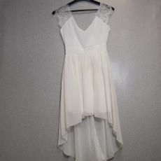 Fehér felvágott csipkés ruha - Egy méret