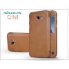 Nillkin Samsung A520F Galaxy A5 (2017) oldalra nyíló flipes tok - Nillkin Qin - barna