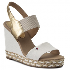 Tommy Hilfiger Espadrilles TOMMY HILFIGER - Elena 44C2 FW0FW00734 Whisper White/Gold 901