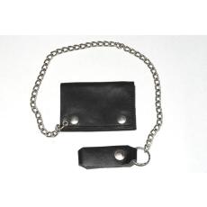 Kis méretű bőr pénztárca, fekete