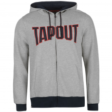 Tapout Férfi kapucnis cipzáras pulóver szürke S