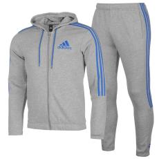 Adidas Three Stripe Jogger Suit férfi melegítő szett szürke M