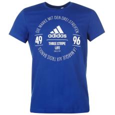 Adidas Essential Circle Logo férfi póló királykék L