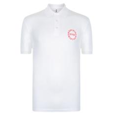 Moschino Motif férfi galléros póló fehér XXL